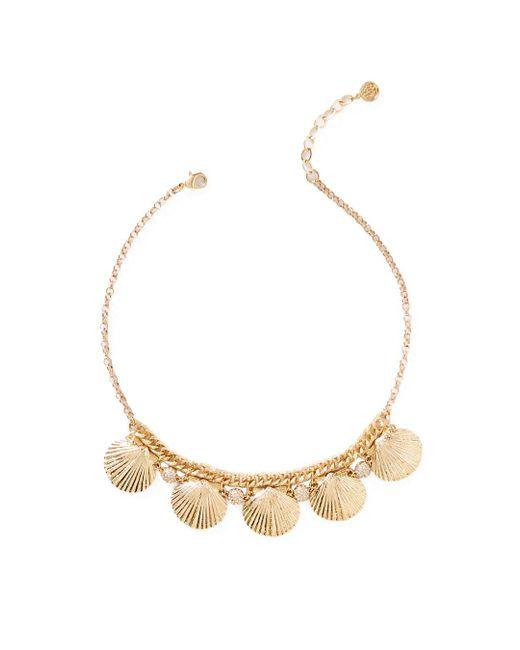 Lilly Pulitzer | Metallic Sea Fan Necklace | Lyst