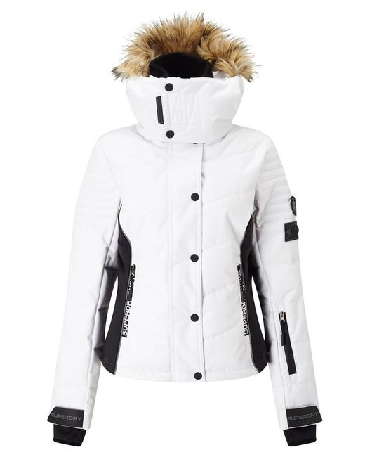 Superdry Snow Puffer Ski Jacket In White Save 50 Lyst