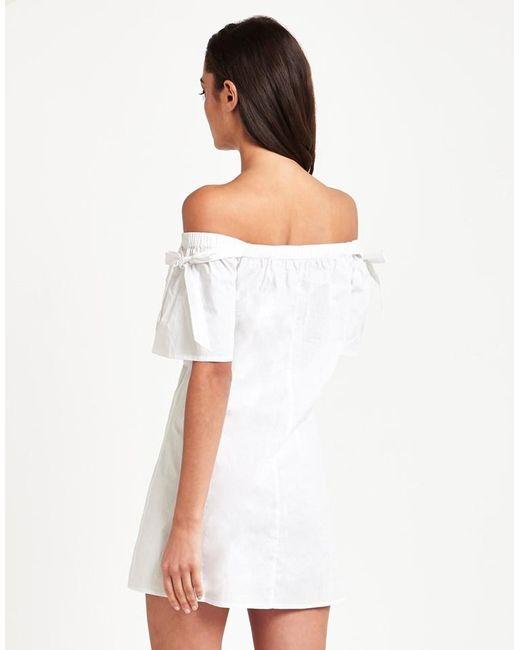 Fashion Union Bardot Shift Dress In White Lyst