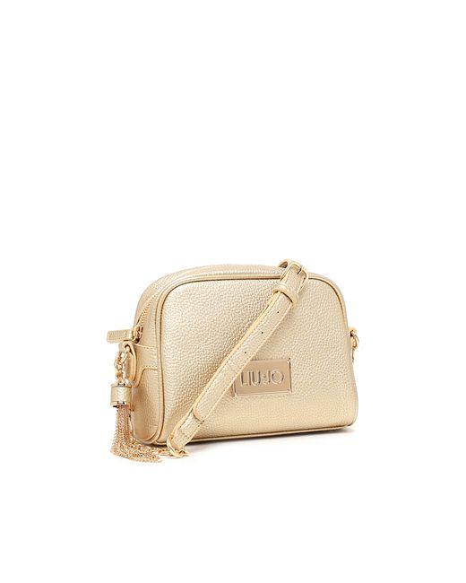 85cba21c77982 Bag LIU JO Strap Menorca n67174 Bag Strap S Gold Light Gold 2017 18 ...
