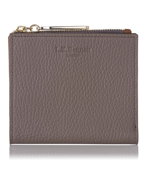 L.K.Bennett | Brown Kira Camel Mix Grained Leather Purse for Men | Lyst