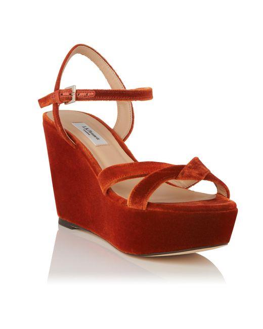 Cheap Latest Collections Clearance Amazing Price L.K. Bennett Henuita Wedge Heel Sandals p0ZPAKrt