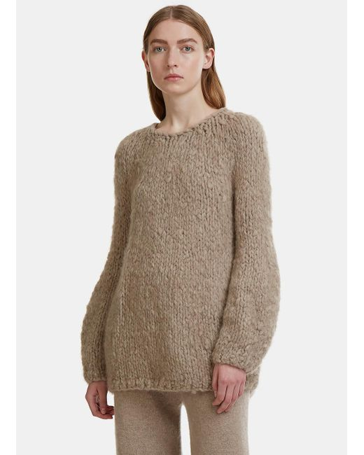 Lauren Manoogian | Natural Bulb Shaped Chunky Knit Sweater In Beige | Lyst