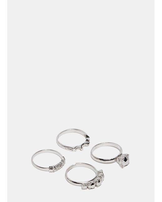 Lauren Klassen - Metallic Women's Silver Flea Market Ring Set From Ss15 In Silver - Lyst