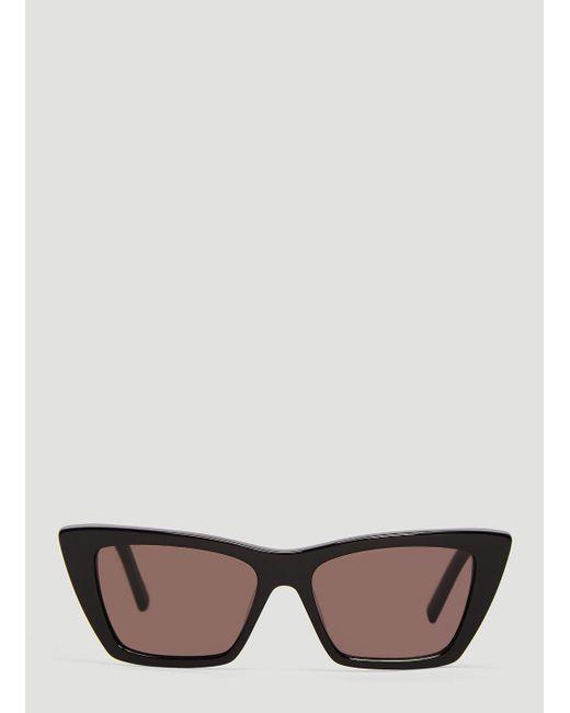 4e43c028bb1 Lyst - Saint Laurent Sl 276 Ace Sunglasses In Black in Black for Men