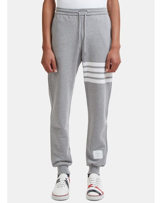 Thom Browne - Gray Men's 4 Bar Jersey Track Pants In Grey for Men - Lyst