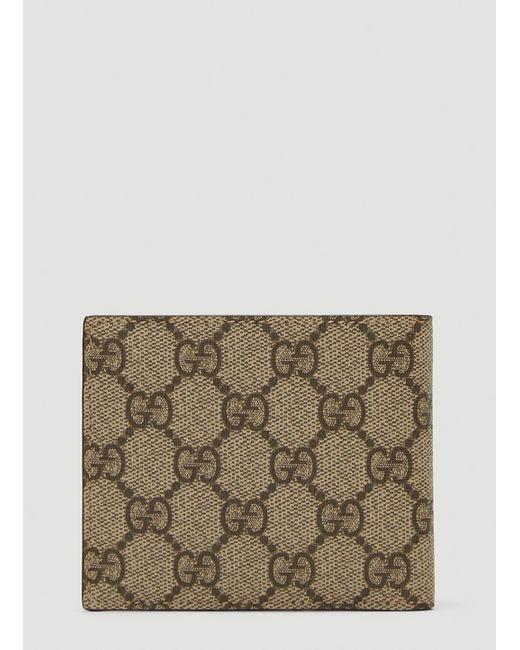 32d41186c5b ... Gucci - Natural GG Supreme Wallet In Beige for Men - Lyst ...
