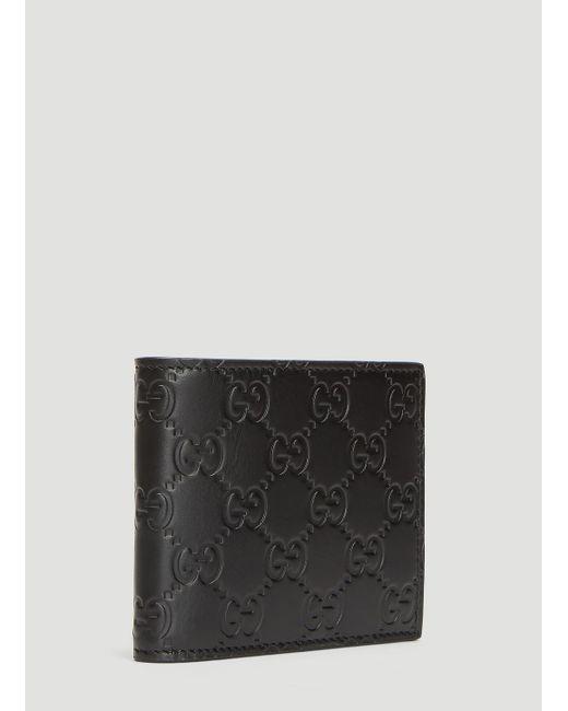 abf3e97ea ... Gucci - Double G Wallet In Black for Men - Lyst ...
