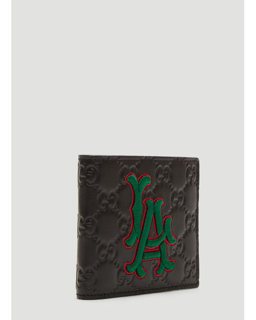 ec0348971b911 ... Gucci - Black La Angelstm Patch Wallet for Men - Lyst ...