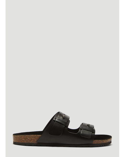 fc99cea354d7 Saint Laurent - Black Jimmy Sandal With Leather Strap for Men - Lyst ...
