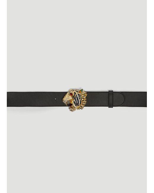 dc67ab33817 Gucci Tiger Head Belt In Black in Black - Lyst