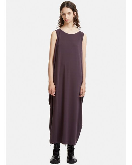 Issey Miyake - Gray Double Stream Drape Jersey Dress In Grey - Lyst