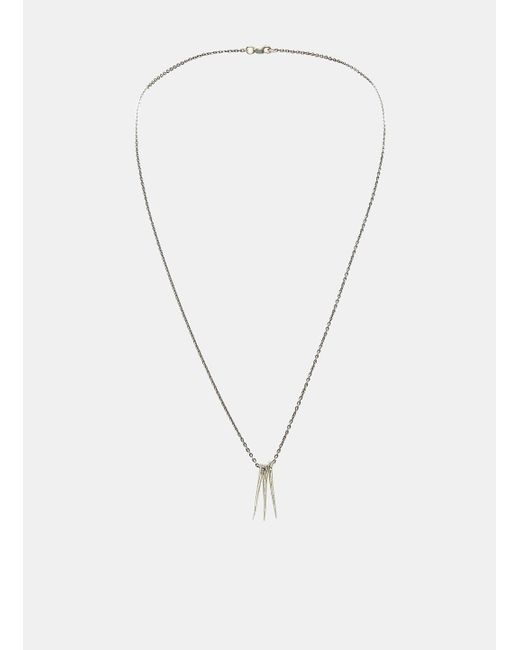 Pearls Before Swine | Metallic Small Triple Thorn Pendant Necklace In Silver | Lyst