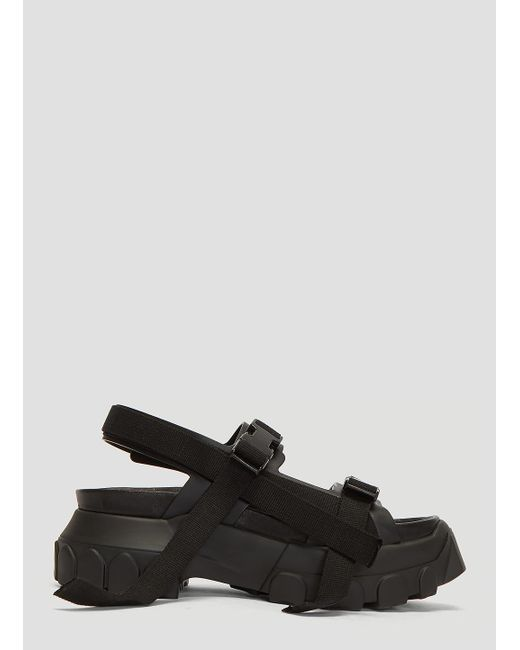 5325044ede8e Lyst - Rick Owens Sisyphus Hiking Sandals In Black in Black