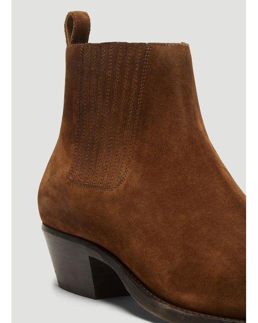 baafaedffcd Saint Laurent Dakota Suede Chelsea Boots In Brown in Brown for Men ...