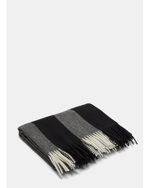 Acne | Gray Unisex Canada Bengal Stripe Wool Scarf In Grey for Men | Lyst