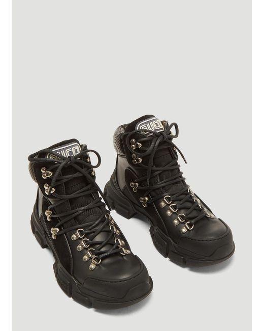 Lyst - Gucci Flashtrek High-top Sneakers in Black - Save 35% 85ca33c34b
