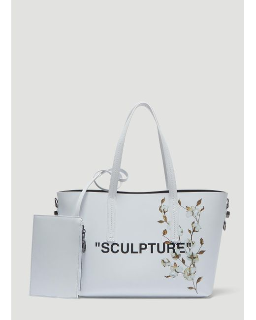 db12fc399 Off-White c/o Virgil Abloh Flower Sculpture Tote Bag In White in ...