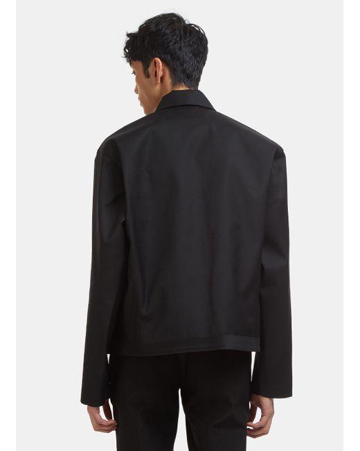 chaqueta con negro cremallera en Bonded asimétrico hombres Mackintosh 0002 Lyst para qnSP11