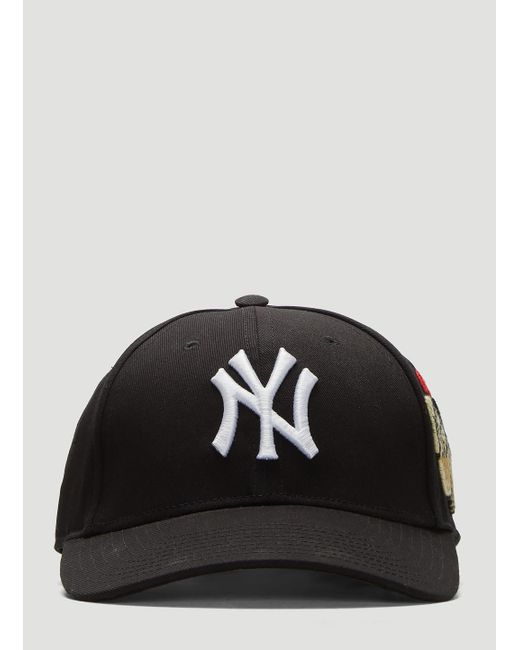 46c1ae08 Gucci Baseball Cap With Ny Yankeestm Patch in Black for Men - Save ...