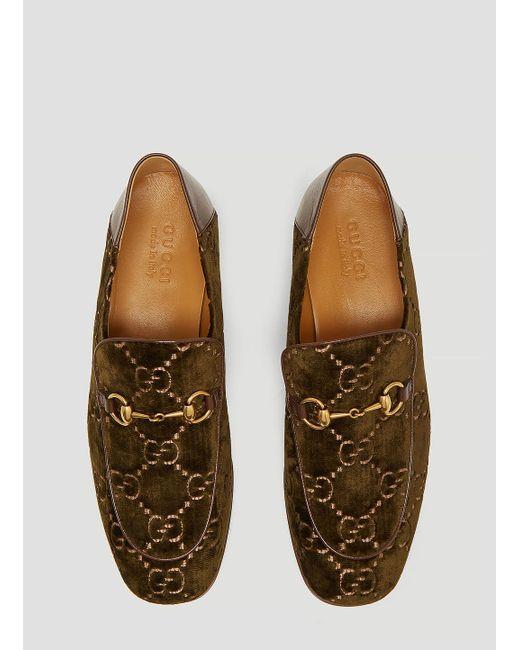 179d5df64c1 ... Gucci - Natural Horsebit GG Velvet Loafer In Khaki for Men - Lyst ...
