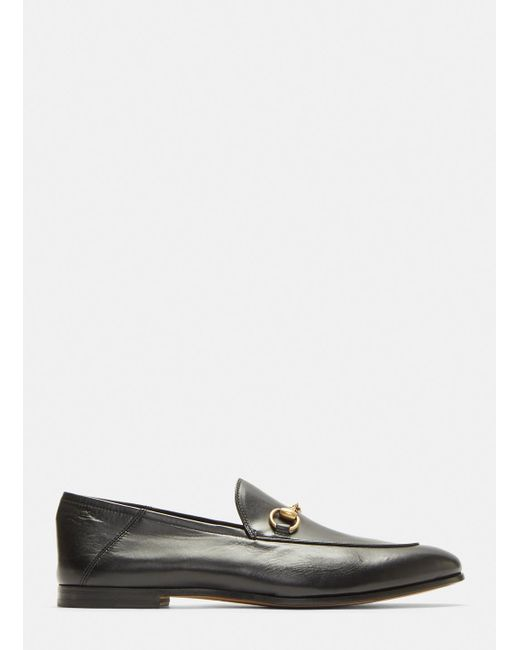 a36b10afccb Gucci Brixton Leather Loafers In Black in Black for Men - Lyst