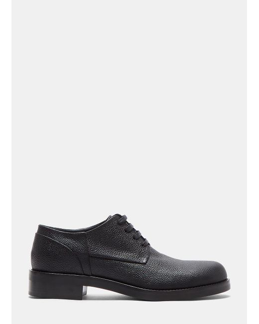 Marni | Speckled Leather Lace-up Brogue Shoes In Black for Men | Lyst
