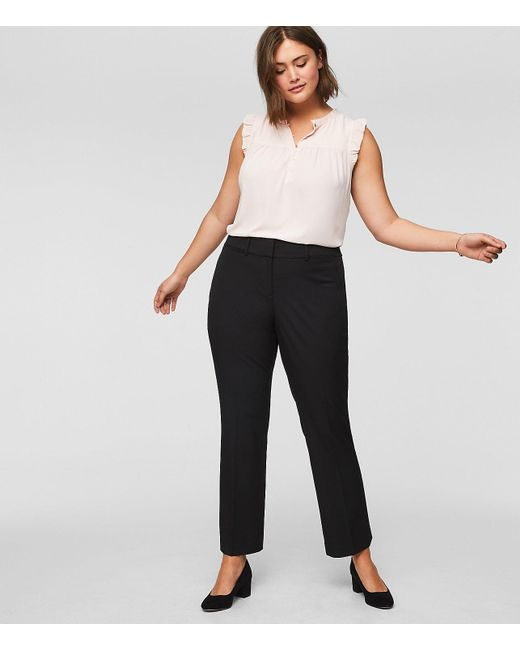 LOFT - Black Plus Trousers In Custom Stretch - Lyst