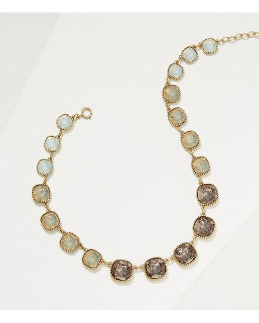 LOFT | Metallic Ombre Stone Necklace | Lyst