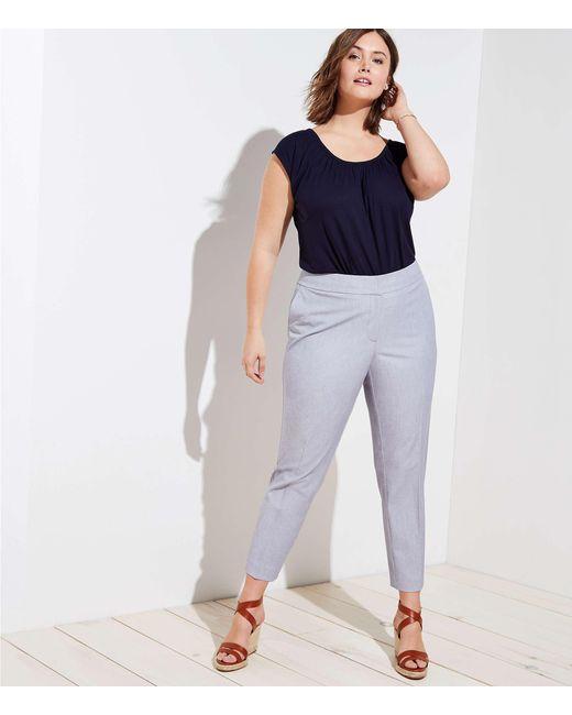 LOFT - Blue Plus Slim Custom Stretch Pants - Lyst