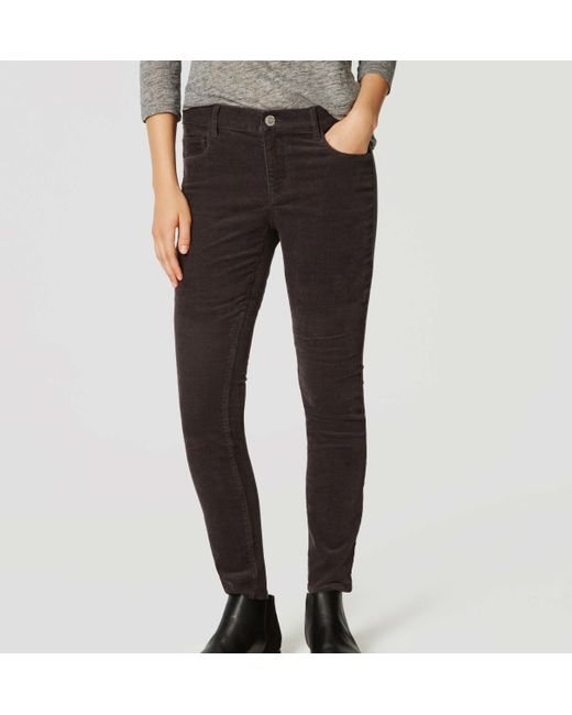 Loft Modern Skinny Corduroy Pants in Gray for Men | Lyst