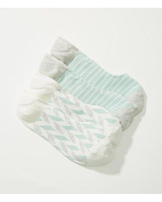 LOFT | Multicolor Chevron & Stripe No Show Sock Set | Lyst