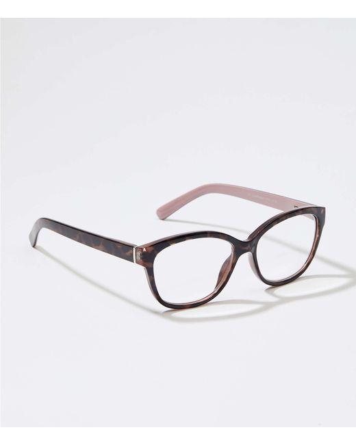030384d9d2 LOFT - Multicolor Square Reading Glasses - Lyst