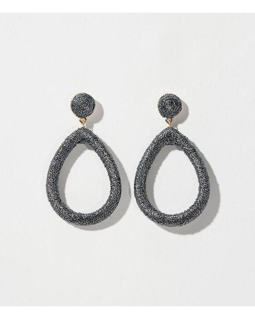 LOFT | Blue Fabric Drop Earrings | Lyst