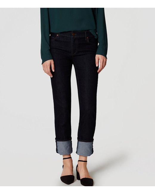 LOFT - Blue Modern Skinny Jeans In Dark Rinse Wash - Lyst