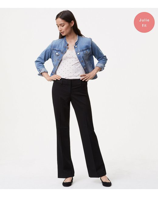 LOFT - Black Tall Custom Stretch Trousers In Julie Fit - Lyst
