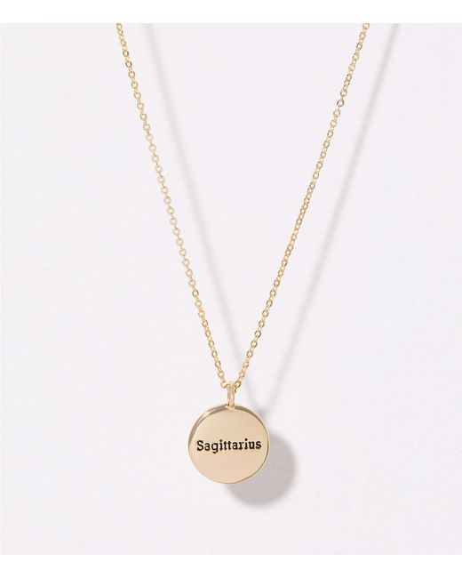 LOFT - Metallic Sagittarius Pendant Necklace - Lyst