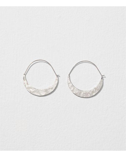 LOFT Metallic Crescent Moon Hoop Earrings