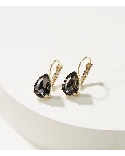 LOFT   Metallic Crystal Drop Earrings   Lyst