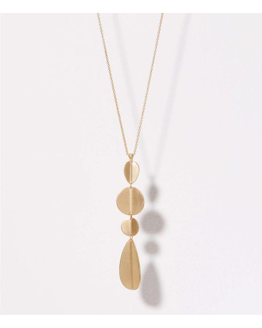 LOFT - Metallic Geometric Drop Pendant Necklace - Lyst