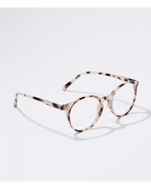 dd778e0cf1 LOFT - Multicolor Tortoiseshell Print Round Reading Glasses - Lyst ...