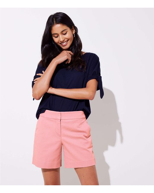LOFT - Multicolor Riviera Shorts With 6 Inch Inseam - Lyst