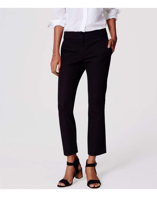 LOFT - Black Tall Bi-stretch Kick Crop Pants In Julie Fit - Lyst