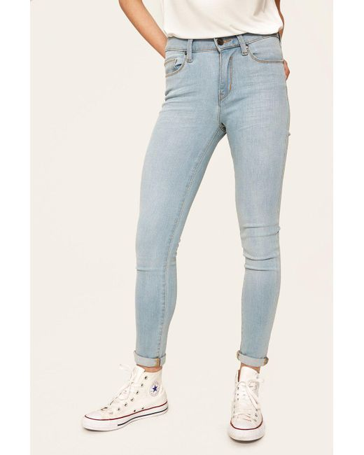 Lolë - Blue Skinny Long Jeans - Lyst
