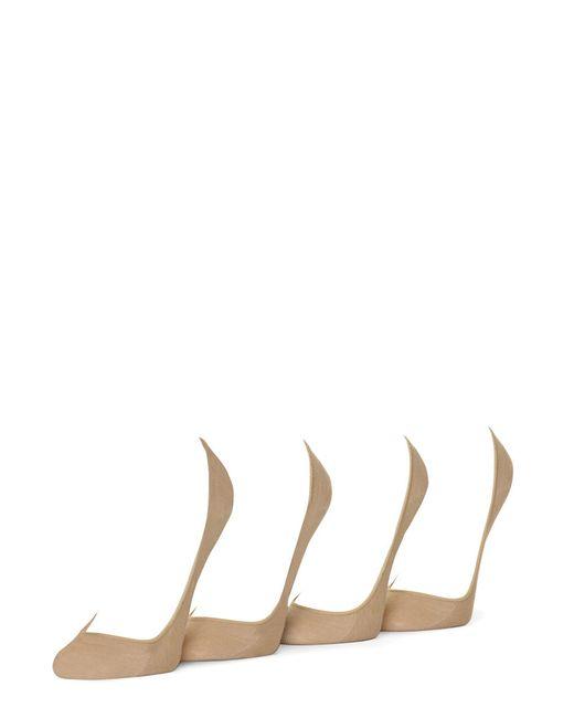 Hue | Natural 4-pack Hidden Liner Socks | Lyst