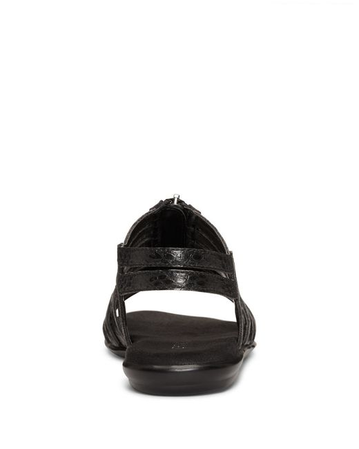 Aerosoles Clothesline Faux Leather Gladiator Sandals In