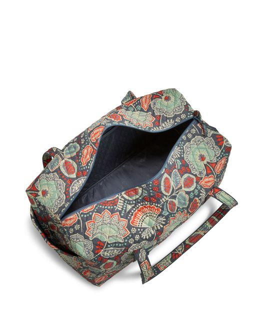 Vera Bradley Large Quilted Duffel Bag In Blue (Nomadic Floral) | Lyst