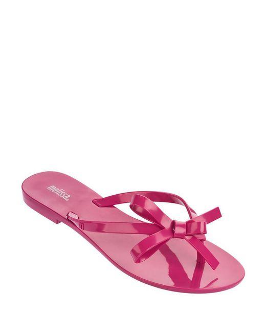 Melissa Harmonicx Jelly Bow Sandals In Pink Fuschia Lyst