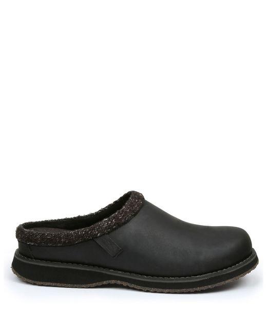 Simple Bravado Wool Lined Slip On Shoes In Black For Men