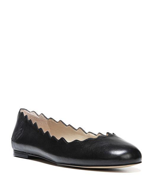 Sam Edelman | Black Augusta Scalloped Ballet Flats | Lyst